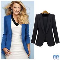 Popular fashion style women designer casual slim suits blazer work wear  big XXXL 3XL 4XL size available black blue colors