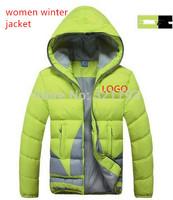 FREE SHIPPING,2014 mandarin collar down sportswear, woman brand jackets coat warm primaloft jacket