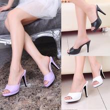 high heel summer sandals fashion thin heel wedding shoes white flip flops sandalias femininas women sandal purple slippers women(China (Mainland))