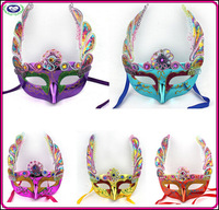 10pcs/lot New Masquerade Mask 6colors Embroidery Butterfly Mask bulk free shipping