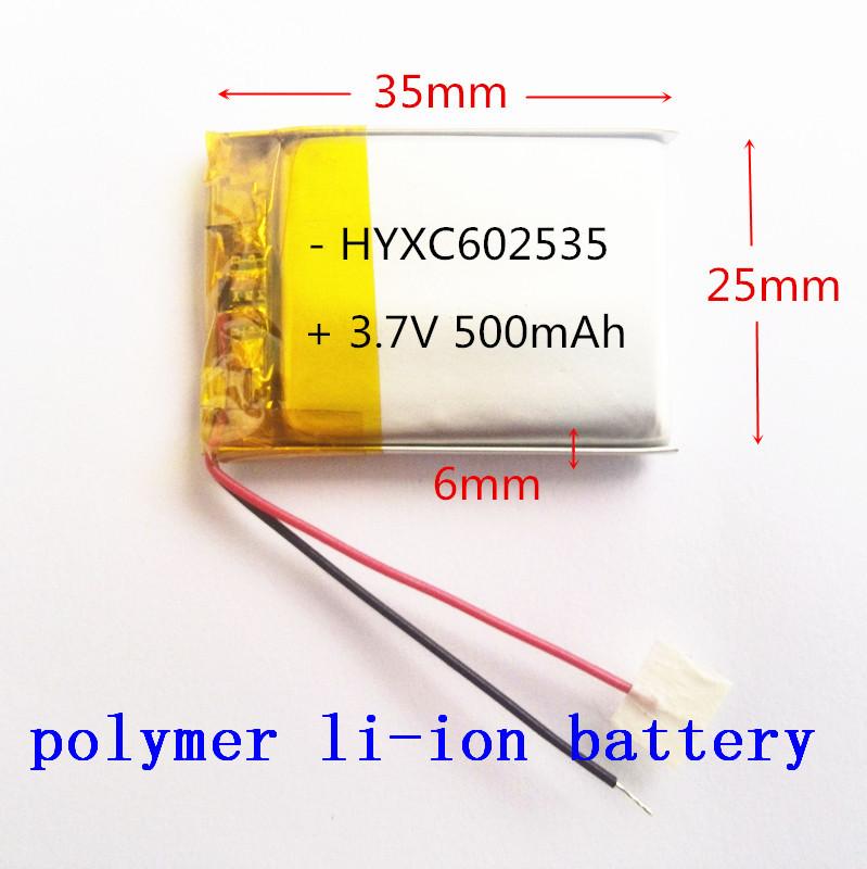 Polimeri di ioni di litio 3,7 V, 602535 062535 possono essere personalizzati ingrosso ce rohs fcc certificazione di qualità msds