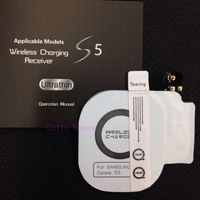 5pcs Top quality Qi  Wireless Charging Receiver for Samsung Galaxy S5 i9600 Phone Charger