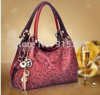 2014 new fashion vintage hollow carved cheap promotional Cheung moire handbag shoulder bag handbag