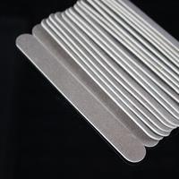 50pcs 1.5x12.7x0.16cm 180/180# grit Professional Nail Files Buffer Buffing Slim Crescent Grit Sandpaper coffee color
