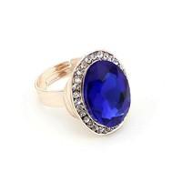 2014 Latest Fashion Lady Ring Adjustable Gold Genuine Austrian Zircon Ring For Women With Crystal Rhinestone DFJ-17B