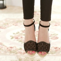 2014 sweet leisure female novel low open-toed sandals for flat sandals