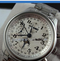 top! Mechanical mens watch well known needle fully-automatic mechanical steel band mens watch