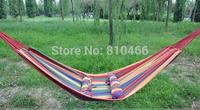 Cotton Fabric Mabogany Hammock Air Chair Hanging Swinging Camping Outdoor Huge hammocks Free shipping