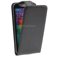 Black Vertical Flip Leather Case for Samsung Galaxy S5 mini
