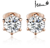 Italina Rigant Genuine Popular Simple Stud Earrings Made With Austrian Crystal Stellux Top Quality  #RG80993