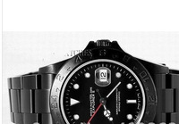 Luxury Mens Black Dlc PVD Watch Explorer II Coating Perpetual 16570 Sport Ceramic Watches