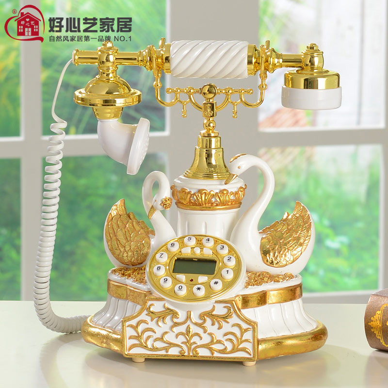 US special resin corded telephone fixed telephone landline shipping fine European fixed telephones(China (Mainland))