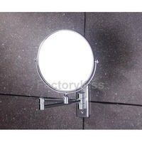 Free Shipping 6 inch Shave Makeup Wall Mounted Bathroom Extend Arm Mirror with Square Base [4 2012-066]
