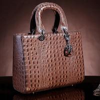 2014 New High quality 100% genuine leather handbags designers brand messenger bags women's  Crocodile Pattern shoulder bag totes