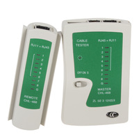 Gray + Green Multifunctional LAN Network Cable Line Tester & Wire Tracker For RJ45 / RJ11 / RJ12