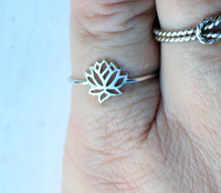 Free Shipping, The Original Tiny Lotus Ring, Delicate Lotus Ring
