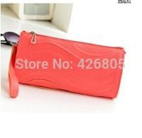The new 2014 female bag Wave grain bag han edition hand caught a single shoulder bag