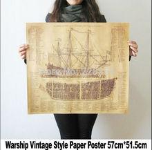 Style Retro Paper Warship
