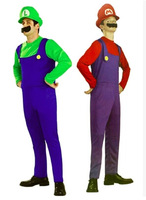 Mens Super Mario Luigi Brothers Fancy Dress Up Party Cosplay Costume Hat D-1526