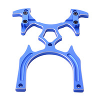 Aluminum Transmitter Stand Holder for Diameter 5mm Remote Handle RC TX Blue