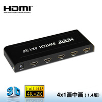 Seamlessly Hdmi 1.4 Switcher 4x1 With Picture-in-picture (pip) Function
