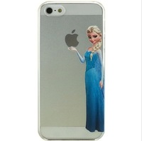 Elsa Snow White mermaid Transparent Frosted Case For iPhone 4 4S iPhone4 4S
