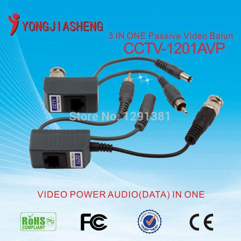 BNC Video Balun Audio Power CCTV Balun UTP twisted pair Transceiver(China (Mainland))