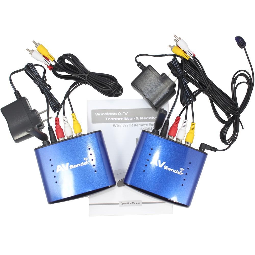 New stereo 5.8GHz AV Sender Wireless Transmitter Receiver+ IR remoter original Adapter PAT530-blue color(China (Mainland))