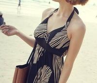 Free Shipping 2014 New Woman Fashion Dress Bohemian dress  Mop the floor long DRESS , Feather  Printed Dresses
