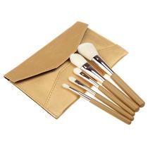 TOP Quality Professional 5PCS Eyeshadow Blending Brush Eye Brushes Set Makeup Tool Cosmetic Brush with Golden Envelope Shap Bag(China (Mainland))