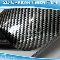 SINO CAR STICKER 0.5*30M Free Shipping  Air free 2D Air Free Carbon Fiber Vinyl Foil For Auto Decoration