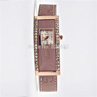 Casual rectangle ladies SMART watches NEW Fashion luxury dress women rhinestone brand Quartz watch Diamond leather wristwatch
