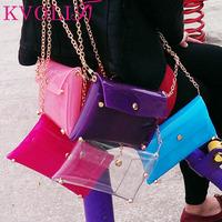 Hot fashion transparent women handbag beach shoulder bags jelly clutch bag casual Bag new 2015 HL1995