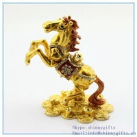 SCJ567 wholesale Big Discount  2014 Horse shape angel alloy trinket boxes for jewelry