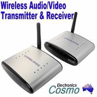 2.4G Wireless Audio Video AV Transmitter Sender & Receiver TV Signal FREE SHIPPING DROP SHIPPING