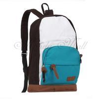 Mixed Colors Canvas Backpack Rucksack Bookbag Student School Campus Bag Casual
