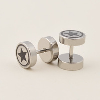 2014 new fashion free shipping titanium steel jewelry cool men earrings hiphop and rock style men stud earrings L0003