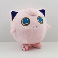 10PCS 14CM Anime Cartoon Cute Pokemon Jigglypuff plush soft Classic toy Collection doll Children toy