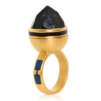 Top Quality Aneis De Diamante Druzy Ring Punk Vintage Gold Plated Rings For Women Free Shipping