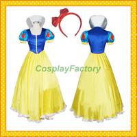 Free Shipping Custom Make Snow White Anime Cosplay Princess Dress Party Costume,2kg/pc