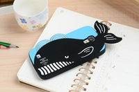 2014 New Cute 3D Crab Whale silicone gel Soft Case cover skin shell for Samsung Galaxy S4 i9500,free shipping