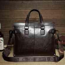 British camel authentic business man bag Messenger bag shoulder bag handbag leather leather bag new briefcases men Black dark br(China (Mainland))