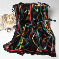 180x70cm 124073 2014 Newest  Women's 100% Silk scarf, 100% Silk scarves, rectangle silk scarf, Free Shipping  Muslim Hijab