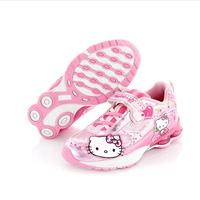 Free shipping 2014 summer Hello Kitty shoes girls cute shoes kids princess shoes girl flashing lights shoes