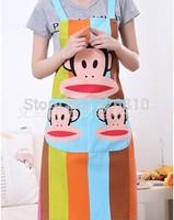 Promotion Korean cartoon kitchen Apron Antifouling and oil lovely Monkey Summer Apron!