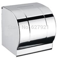 Light stainless steel toilet paper holder toilet paper box sanitary tissue box carton waterproof bumpered roll holder