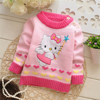 Autumn/Winter sweaters Kids Cartoon girls round neck pullover cute knitwear baby  infant casual sweater V970 B