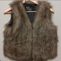casacos de inverno peles artificiais colete pele Fashion faux vest design short fur vest waistcoat fox fur