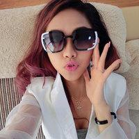 Elegant box black sunglasses women's the trend vintage sunglasses sun glasses large female anti-uv sunglasses