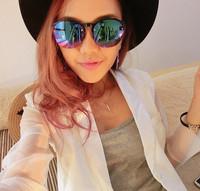 Fashion vintage sunglasses female star style sunglasses female male colorful glasses large anti-uv sunglasses